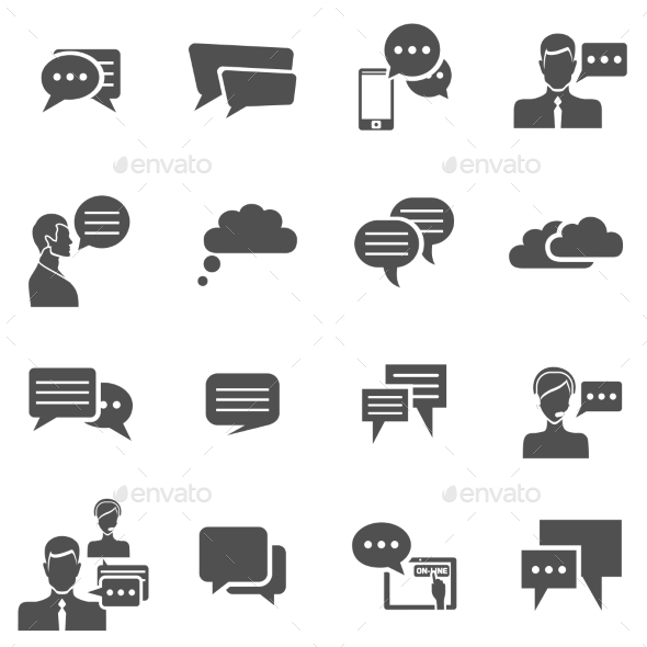 Chat Icons - Communications Technology