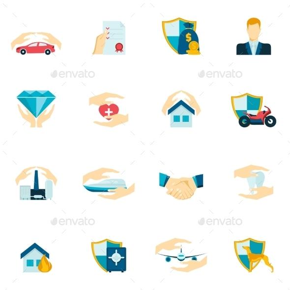 Insurance Icons Flat - Icons
