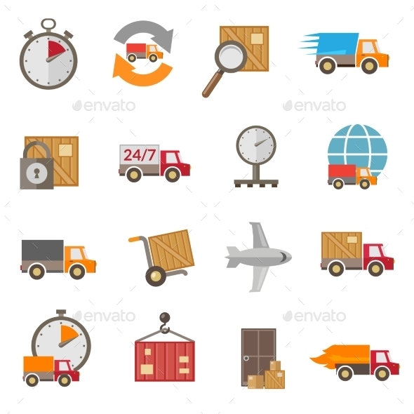 Delivery Icons Set - Business Conceptual