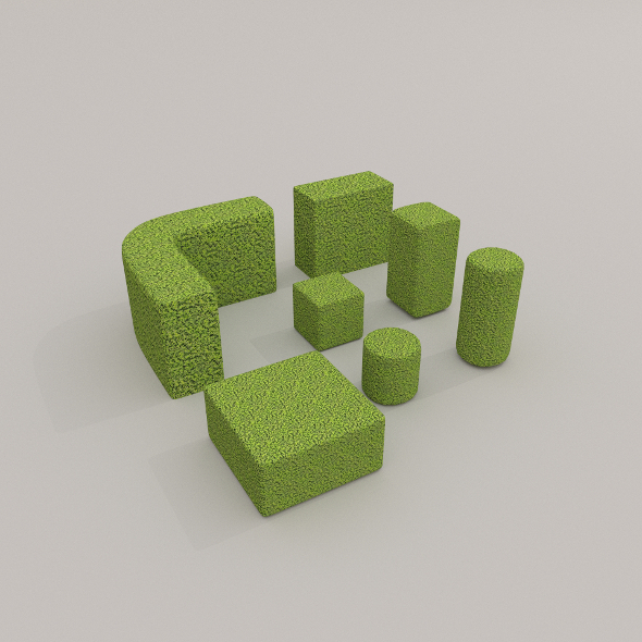Low Poly Hedge Collection - 3DOcean Item for Sale