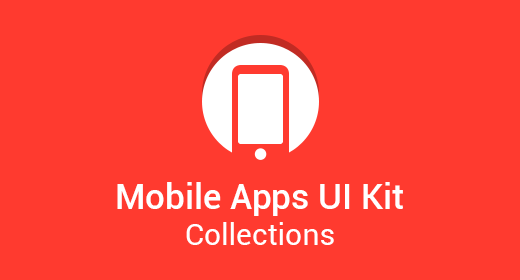 Mobile Apps UI Kit Collections