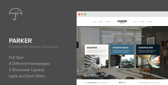 Parker – Creative WordPress Showcase