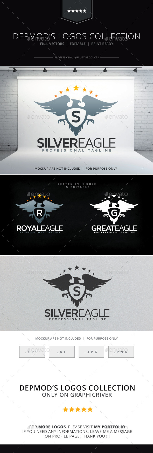 Silver Eagle Logo - Crests Logo Templates
