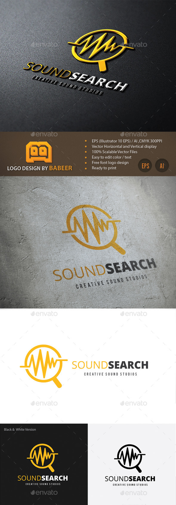 Sound Search - Vector Abstract