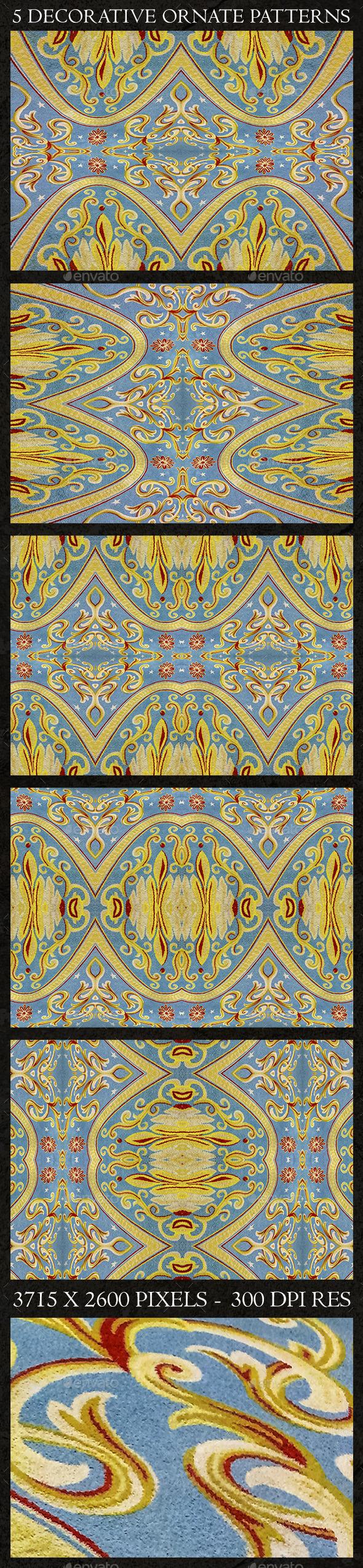5 Decorative Ornate Patterns - Decorative Graphics