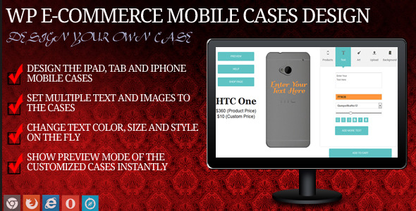 Mobile Case Design for WP eCommerce - CodeCanyon Item for Sale