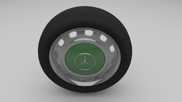 Mercedes W123 wheel - 3DOcean Item for Sale