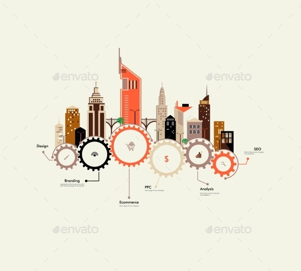 City Infographics - Buildings Objects