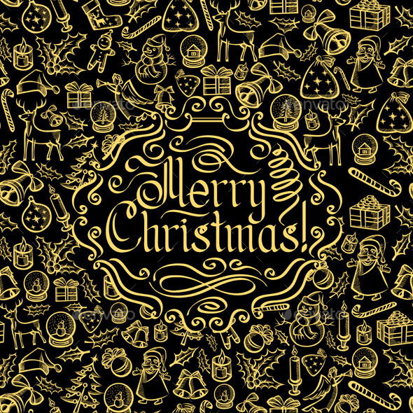Merry Christmas Text - Christmas Seasons/Holidays