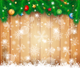 Christmas Background with Wood and Fir - GraphicRiver Item for Sale