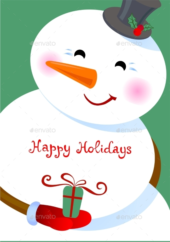 Happy Holidays Greetings - Christmas Seasons/Holidays