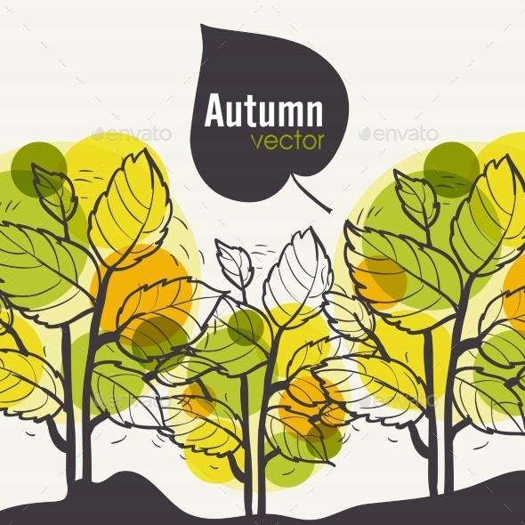 Autumn Tree Background - Seasons Nature