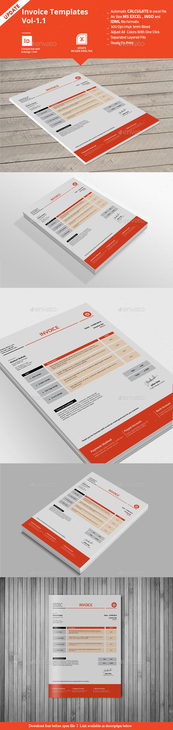 Invoice Templates Vol-1.1 - Proposals & Invoices Stationery