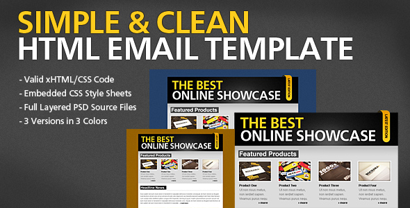 Free Download Simple & Clean HTML Email Template Nulled Latest Version