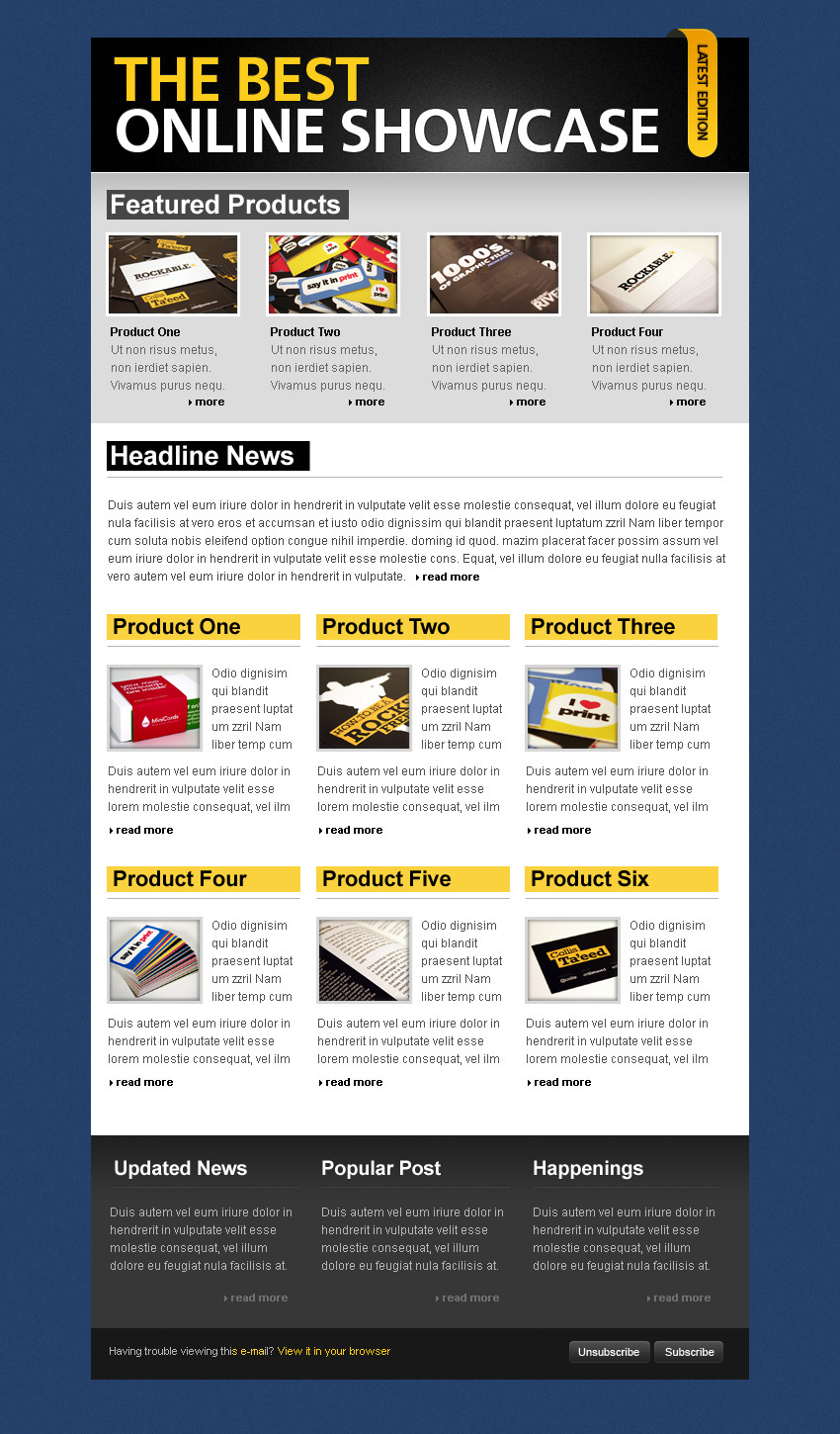 simple clean html email template by berber themeforest. Black Bedroom Furniture Sets. Home Design Ideas