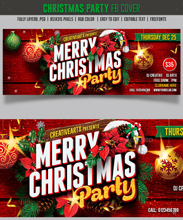 Christmas Party FB cover - Facebook Timeline Covers Social Media