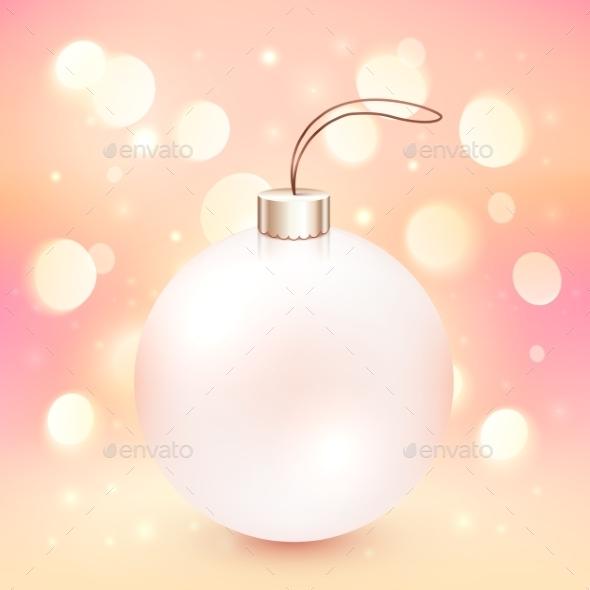 Pink Christmas Ball on Bokeh Background - Christmas Seasons/Holidays