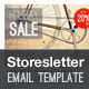 Storesletter HTML email-marketing template to sell Nulled
