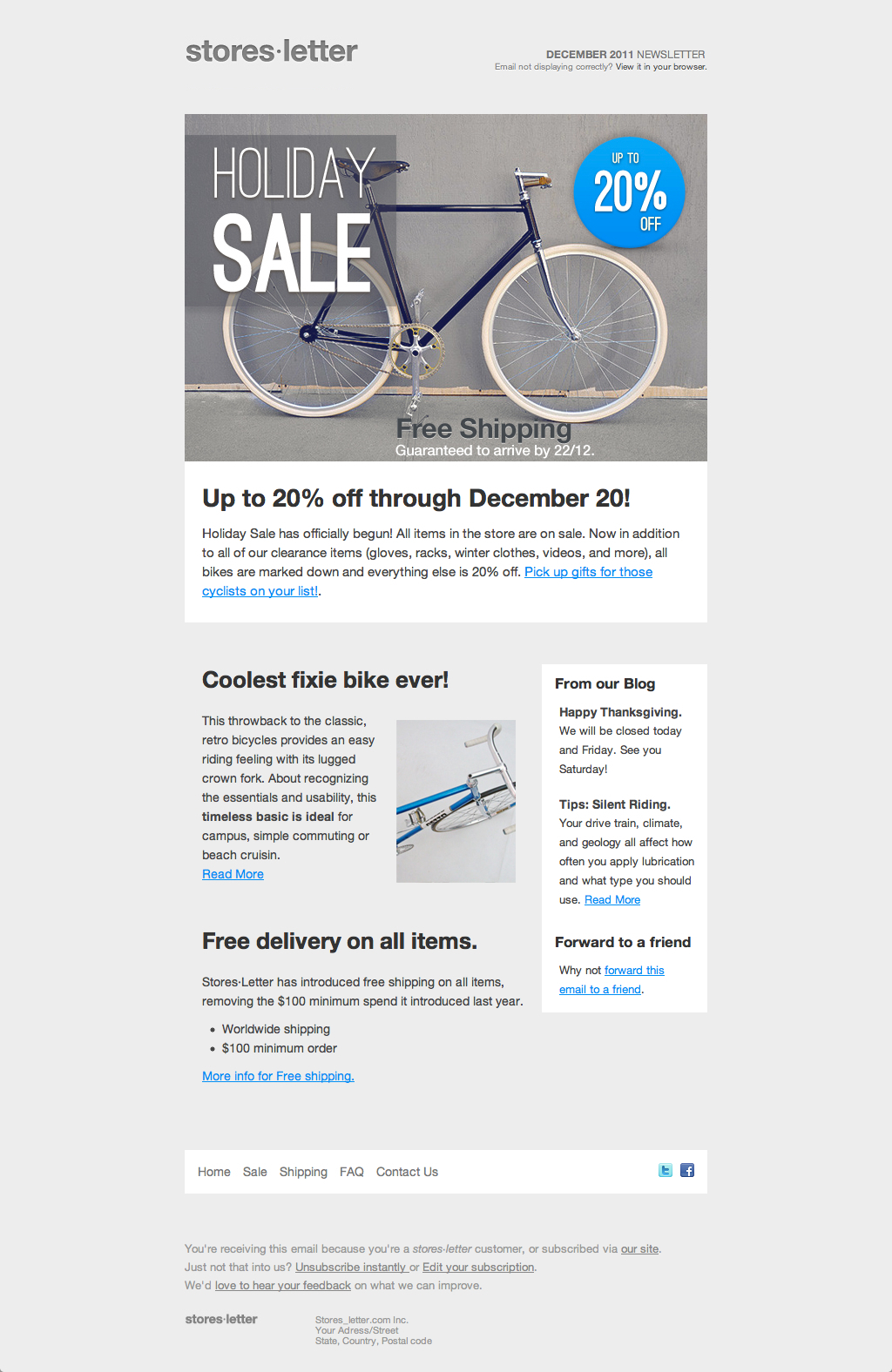 Storesletter HTML email-marketing template to sell by oscarbarber ...