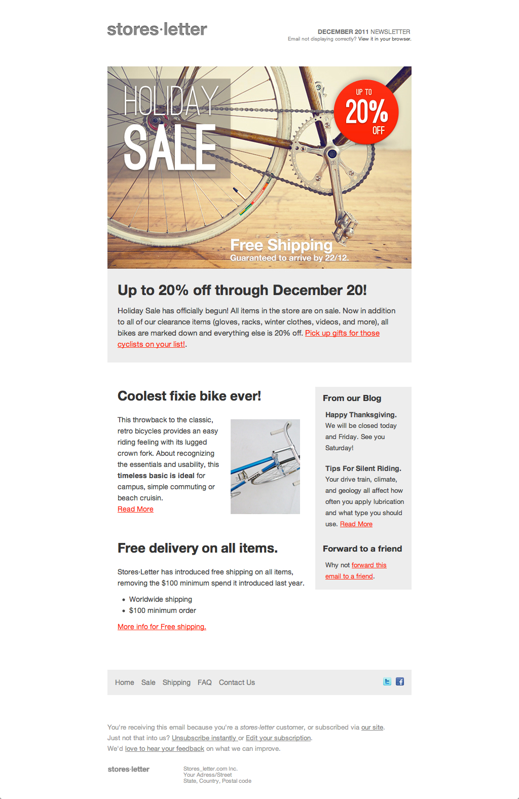 Storesletter HTML Emailmarketing Template To Sell By Oscarbarber - Template for selling home