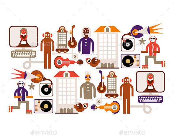 Music City - People Characters