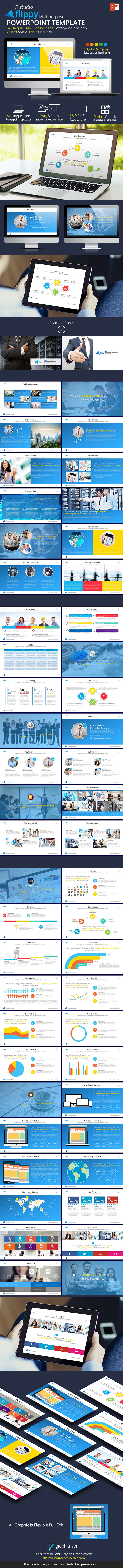 Flippy Powerpoint Template - Business PowerPoint Templates