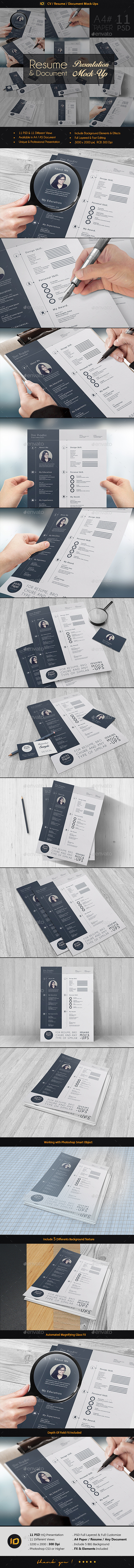 CV / Resume Mock-Up - Print Product Mock-Ups