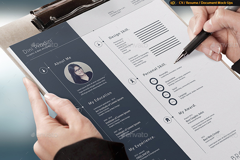 CV Resume MockUp by IDsains GraphicRiver