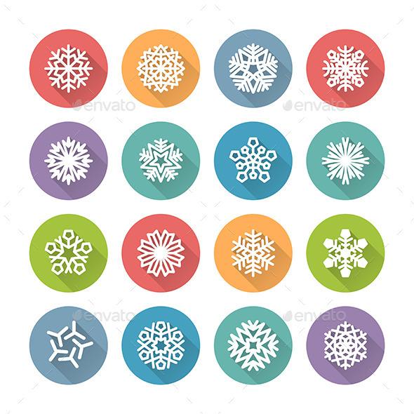 Snowflake Icons - Christmas Seasons/Holidays