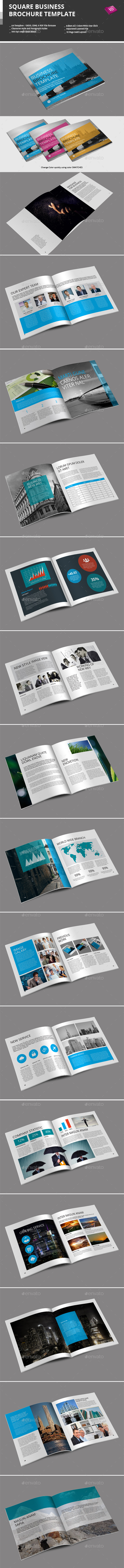 Square Business Brochure Template - Corporate Brochures