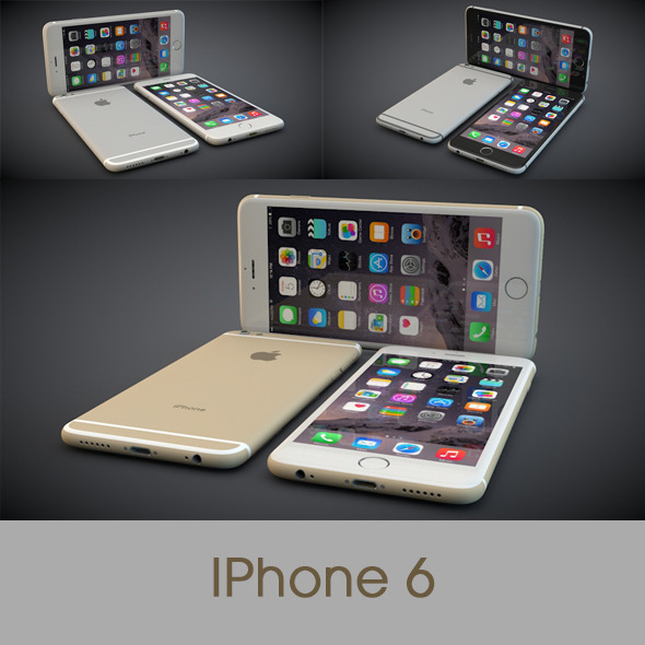 iPhone 6 All Three Colours - 3DOcean Item for Sale
