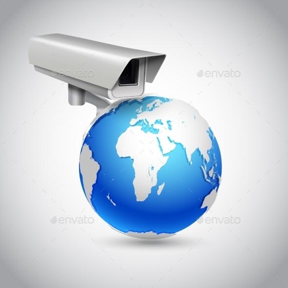 Global Surveillance Concept - Technology Conceptual