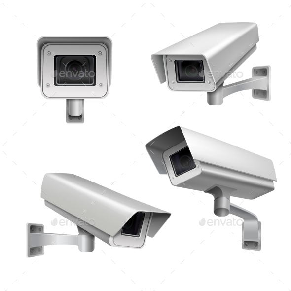 Surveillance Camera Set - Technology Conceptual