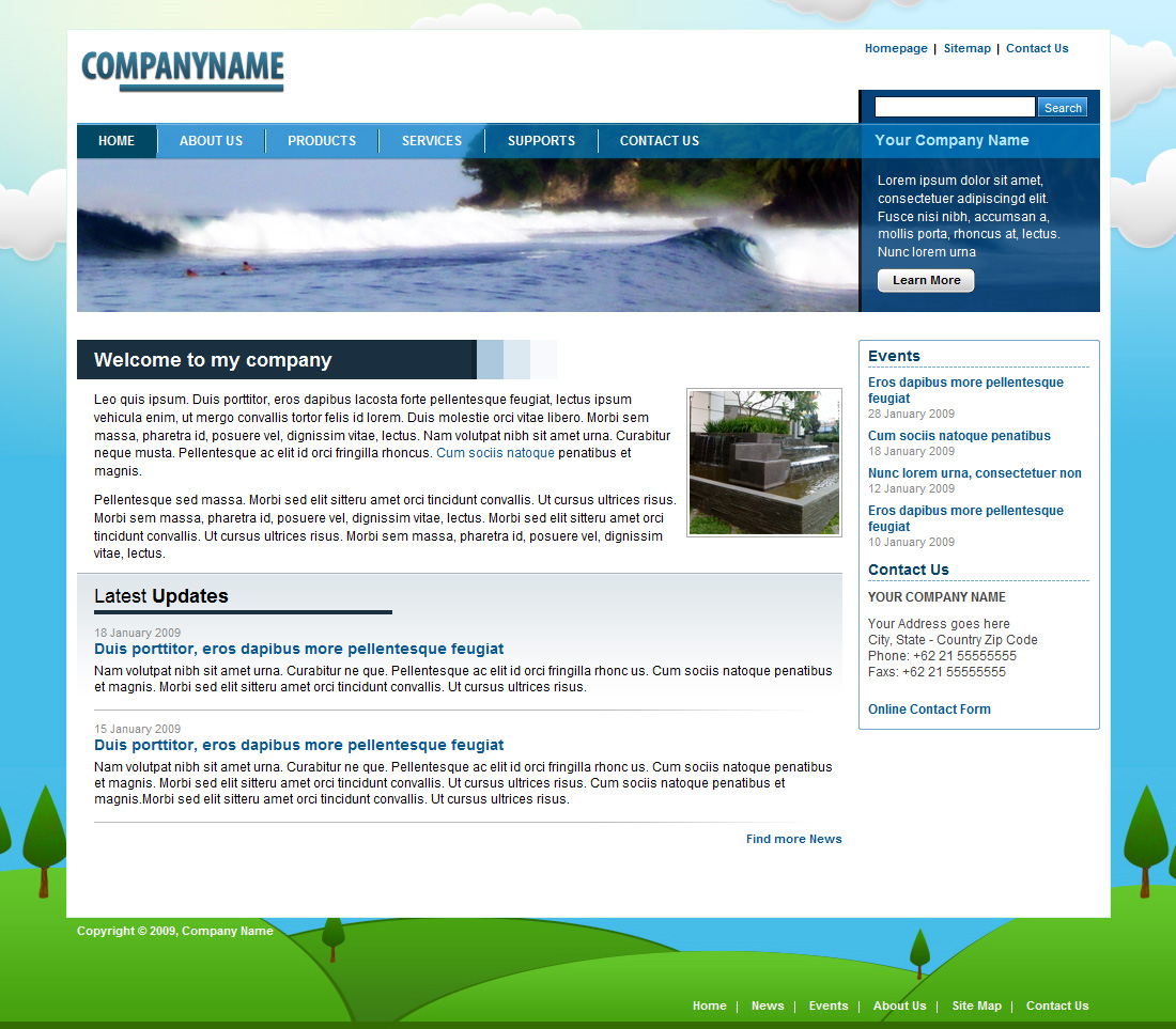 Blue Nature Corporate Business Layout By Plentong