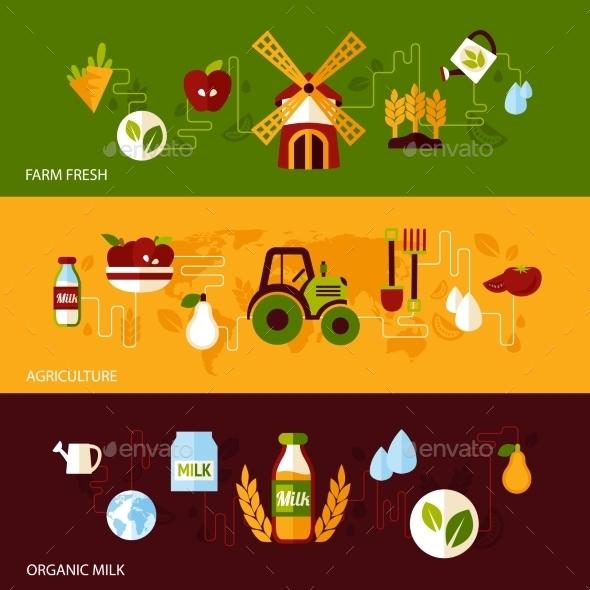 Agriculture Banner Set - Nature Conceptual