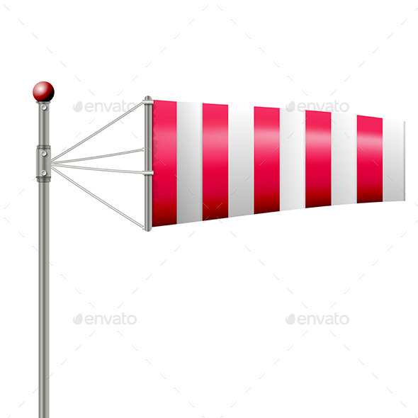 Red Windsock - Man-made Objects Objects
