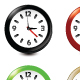 Clock Icons Pack of 6 - GraphicRiver Item for Sale