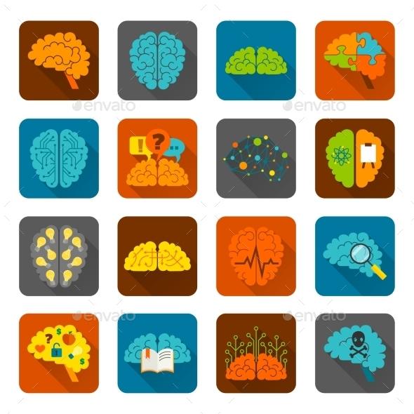 Brain Icons - Web Technology