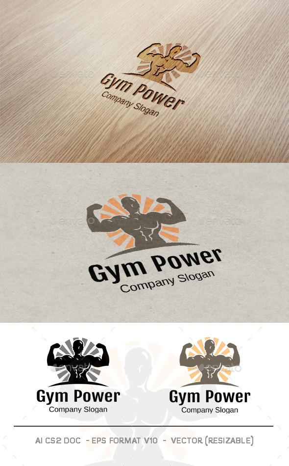 Gym Power Logo - Humans Logo Templates
