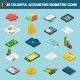 Accounting Icons Isometric Set  - GraphicRiver Item for Sale