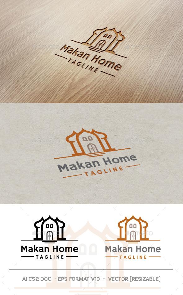 Makan Home Logo - Buildings Logo Templates