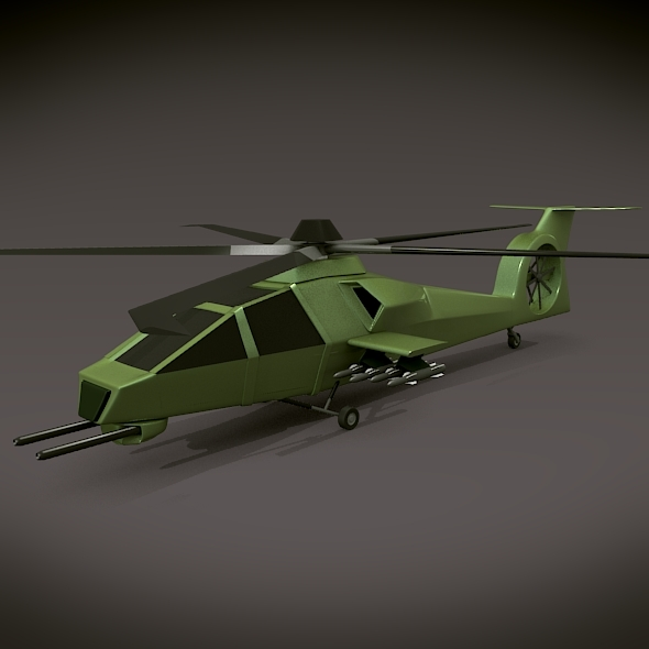 Military helicopter concept - 3DOcean Item for Sale