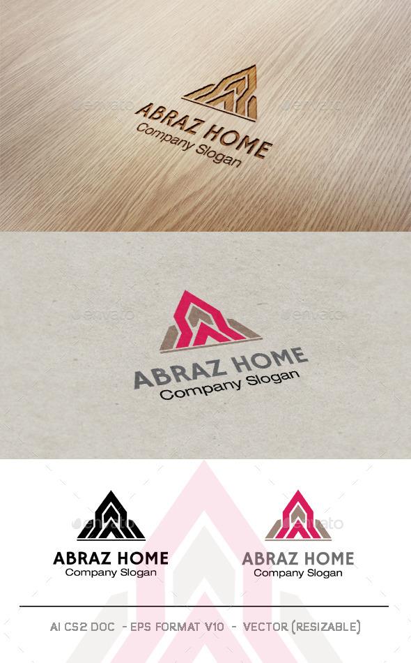 Abraz Home Logo - Buildings Logo Templates