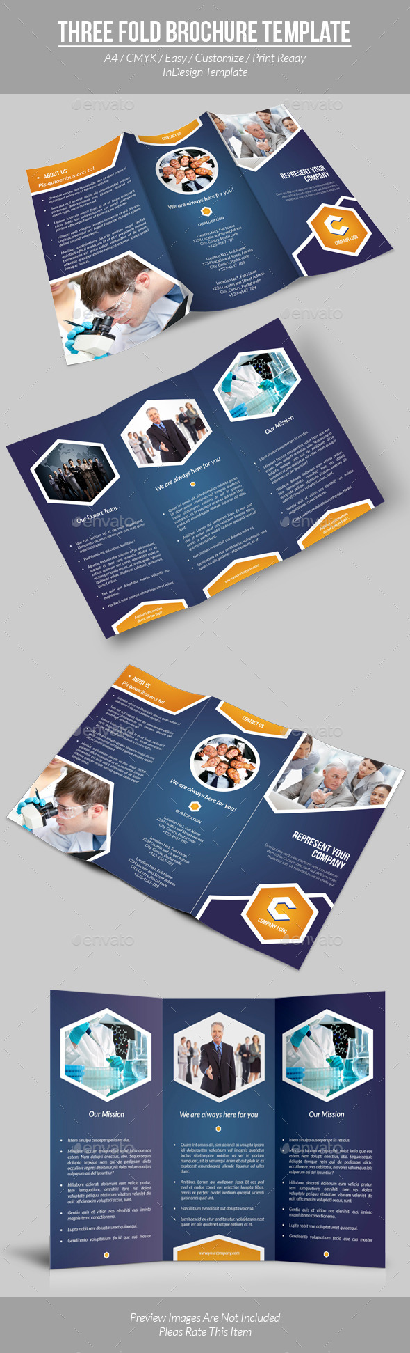 Three Fold Brochure Template - Informational Brochures