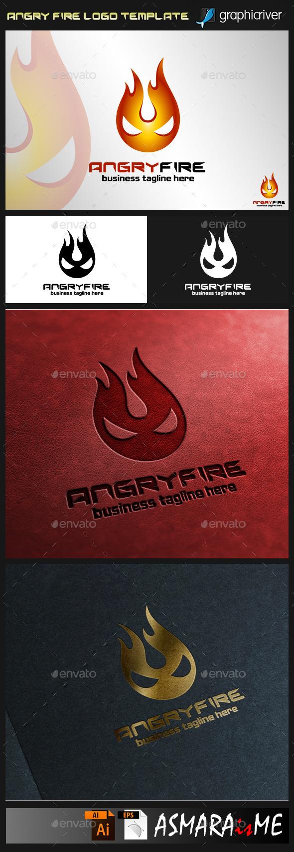 Angry Fire Logo - Symbols Logo Templates