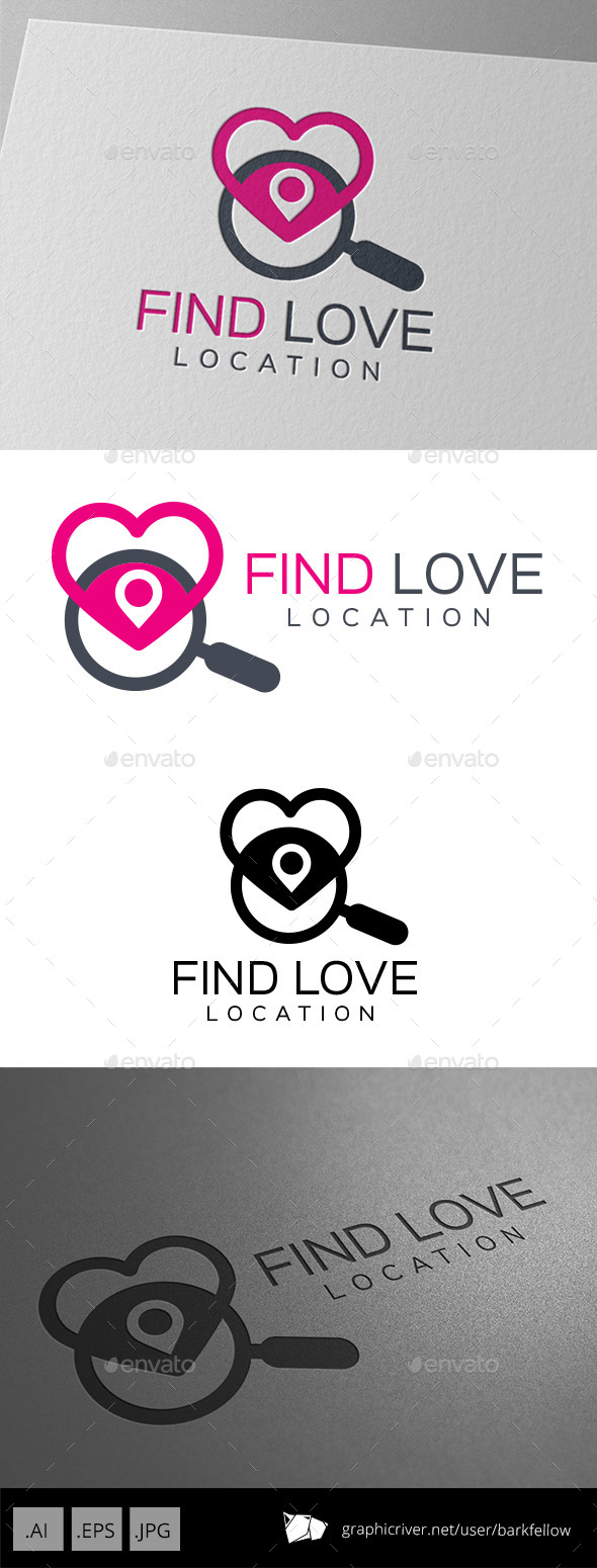 Find Love Location Logo - Symbols Logo Templates