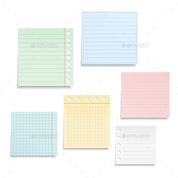 Notebook Paper - Objects Vectors