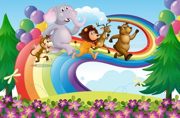 Animals on a Rainbow - Animals Characters