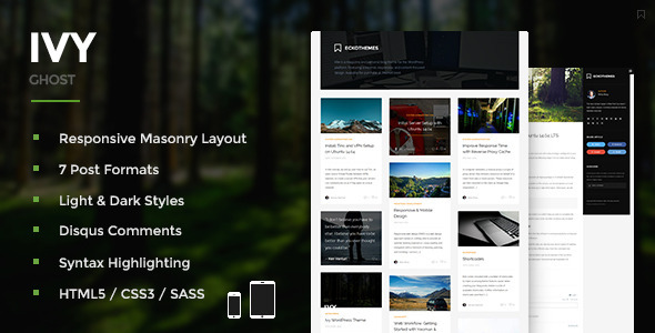 Ivy – Responsive Masonry Ghost Theme
