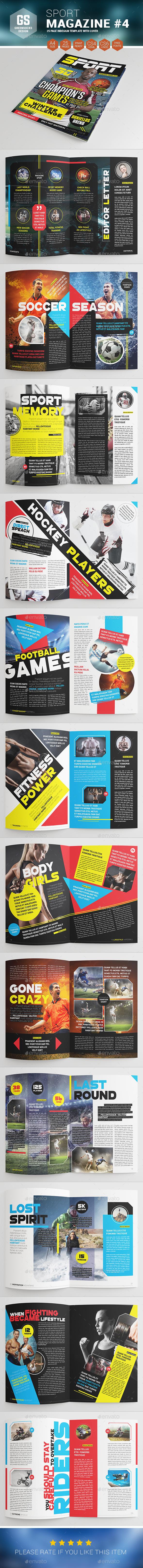 Sport Magazine #4 - Magazines Print Templates
